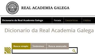 Diccionario Real Academia Gallega